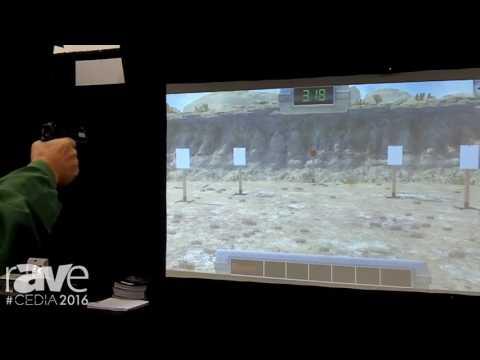 CEDIA 2016: Laser Shot Demos Steel Challenge Gun Range Shooting Game