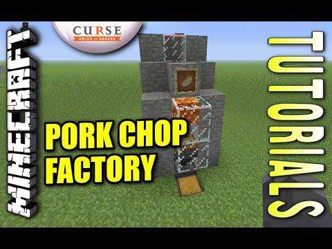 Minecraft PS4 - PORK CHOP FACTORY / AUTO PIG FARM - How To - Tutorial ( PS3 / XBOX ) WII