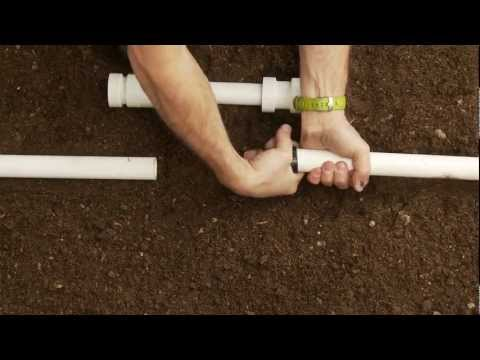 How To Repair PVC Sprinkler Pipe; Glueless Coupling & Slide Fittings PVC-Lock®