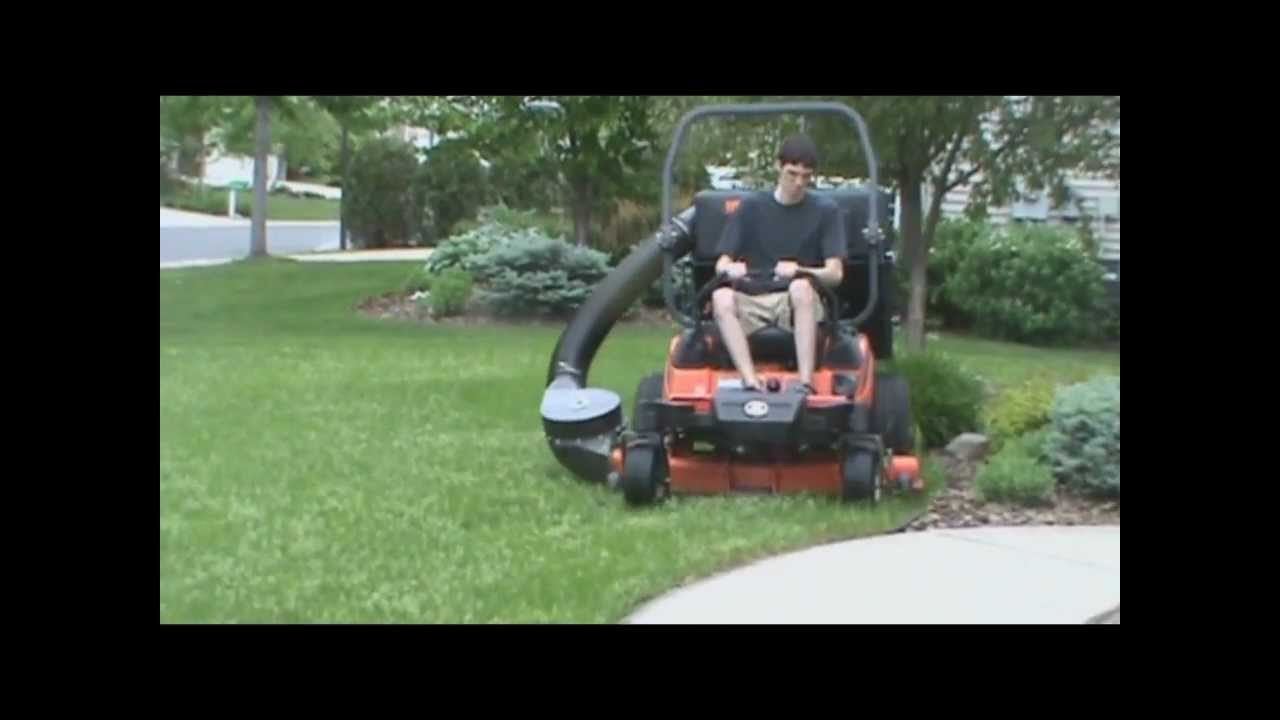 Kubota Zd18 With Protero Pv 18 Lawn Vacuum Leaf Vacuum
