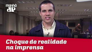 Votação de Bolsonaro é choque de realidade na imprensa   Felipe Moura Brasil