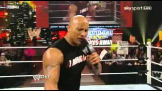 WWE RAW 03/28/11 The Rock on RAW PT1