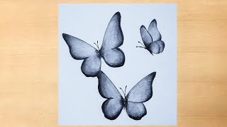 Play this video How to draw beautiful Butterfly Pencil drawing of butterfly simple drawing of butterfly