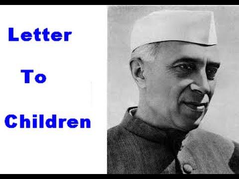 Pandit Jawaharlal Nehru Drawing Nehru to Children in India