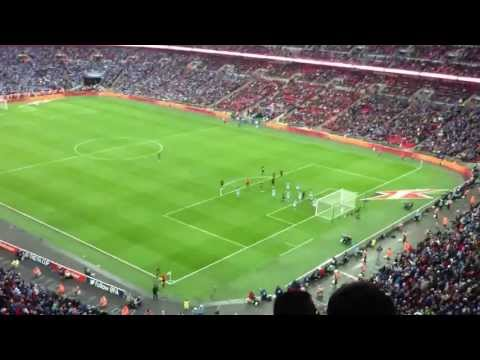 Ben Watson GOAL (Wigan Athletic 1 - 0 Manchester City) FA CUP Final 2013