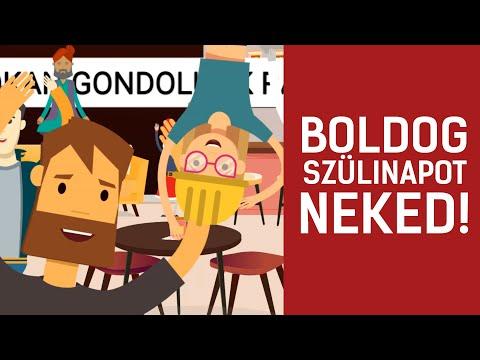 BOLDOG SZÜLINAPOT HAVER! - Születésnapi köszöntés férfiaknak (videó)