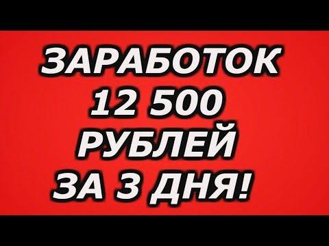 ЗАРАБОТОК В ИНТЕРНЕТЕ, 12 500 РУБЛЕЙ ЗА 3 ДНЯ НА ПОЛНОМ АВТОМАТЕ!
