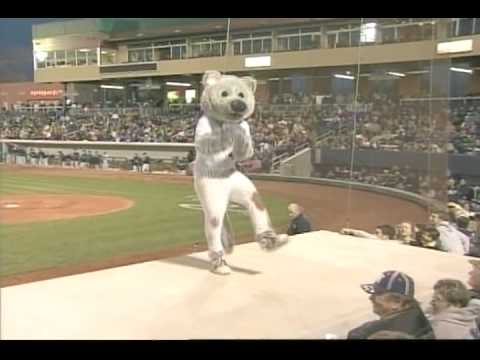 Mascot Falls off Dugout at Triple-A Baseball Game