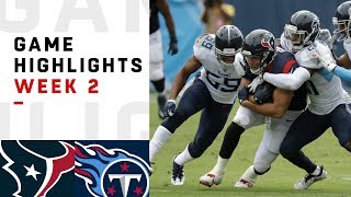 Texans vs. Titans Week 2 Highlights | NFL 2018