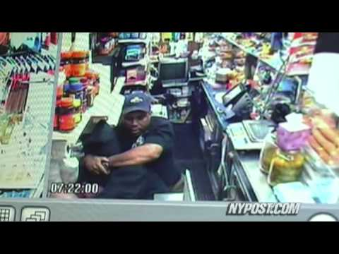 Two thugs lose their grip on a deli heist as one clerk wrestles a gun out of his attackers hands and proceeds to beat him with it. See article here: http://w...