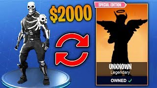 Top 10 MOST EXPENSIVE Fortnite Skins THAT HAVE BEEN SOLD!