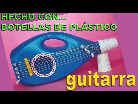 Manualidades con Botellas de Plástico - Hacer Juguetes: Guitarra