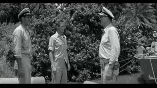 IN HARM'S WAY - Admiral Torrey (John Wayne) reconciled with son (Brandon De Wilde)