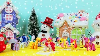 Snowing Christmas MLP My Little Pony Surprise Eggs Santa Boots In Christmas Town | Christmas Songs