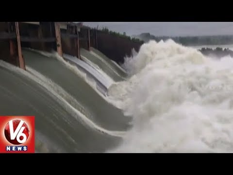 Rains Update: Telangana Irrigation Projects Water Level Increased With Heavy Inflow | V6 News