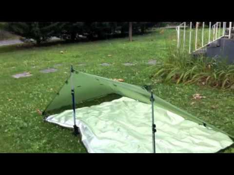 GoLite Poncho Tarp Tent Setup