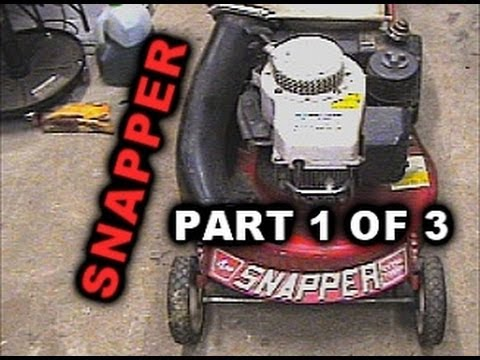 Snapper Mower Drive Axel Replacement: PART 1 OF 3.  model 214X1PR