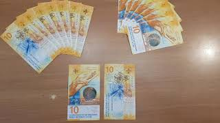 Brand new 10 CHF, today available