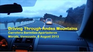 Driving Through Andes Mountains, Venezuela
