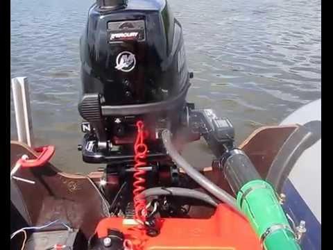 обкатка лодочного двухтактного мотора mercury