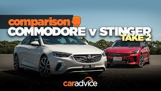 2018 Kia Stinger v NEW 2018 Holden Commodore VXR (Opel Insignia) comparison