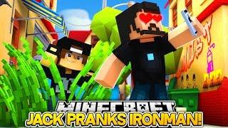 Minecraft Adventure - JACK PLAYS A FUNNY PRANK ON IRONMAN