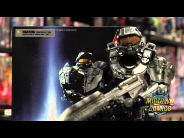 Halo 4 Play Arts Kai Master Chief Action Figure Unboxing