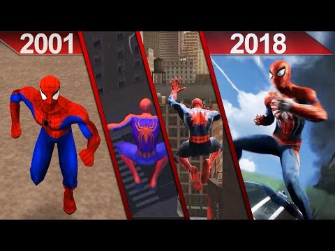 Evolution of Spider-Man Games Graphics (2001 - 2018) | PC* and PS4