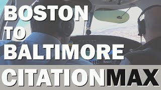 Boston to Baltimore in a Brand New Cessna Citation M2 - KBVY / KBWI