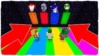 DON'T CHOOSE THE WRONG DIMENSION IN MINECRAFT! PORTALS OF IT, GRANDPA, SONIC.EXE, DAME YOUR COSITA