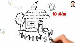 Dạy Bé Vẽ Và Tô Màu Ngôi Nhà Đẹp Nhất - Dạy Bé Học Vẽ
