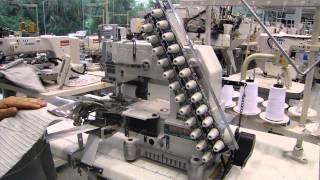 Máquina ponto corrente para aplicar elástico embutido SIRUBA