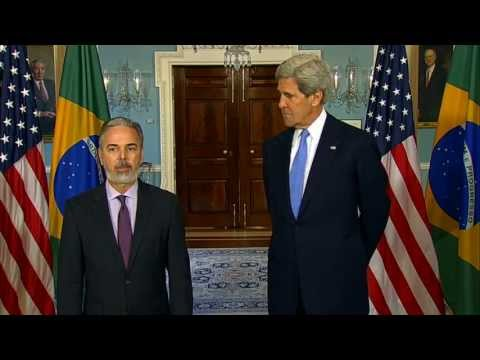 Secretary Kerry Delivers Remarks With Foreign Minister of Brazil Patriota