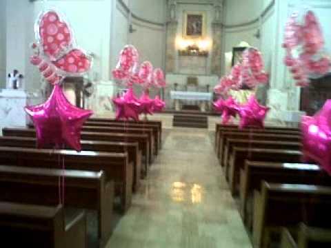 Iglesia xv a os con globos helio youtube for Decoracion de globos para 15 anos