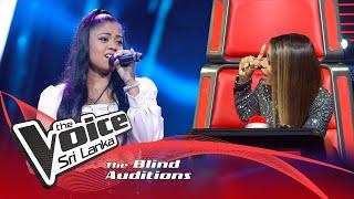 Piyumi Bhagya - Mere Dholna | Blind Auditions | The Voice Sri Lanka