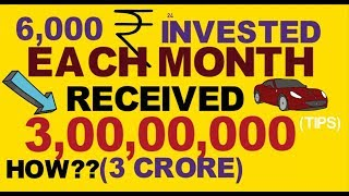 Invest Rs.6000 Per Month and Get 3 crore Rs. Invest in Sip & Financial Freedom Tips