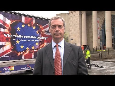 Nigel Farage Talks To Kay Burley About 'Racist' UKIP Posters