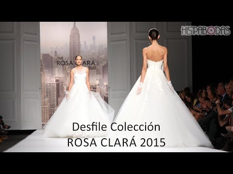 Rosa Clará Desfile Vestidos de Novia 2015 con Alba Carrillo