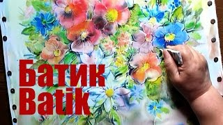 Speed Painting - Cold Batik - Summer Flowers