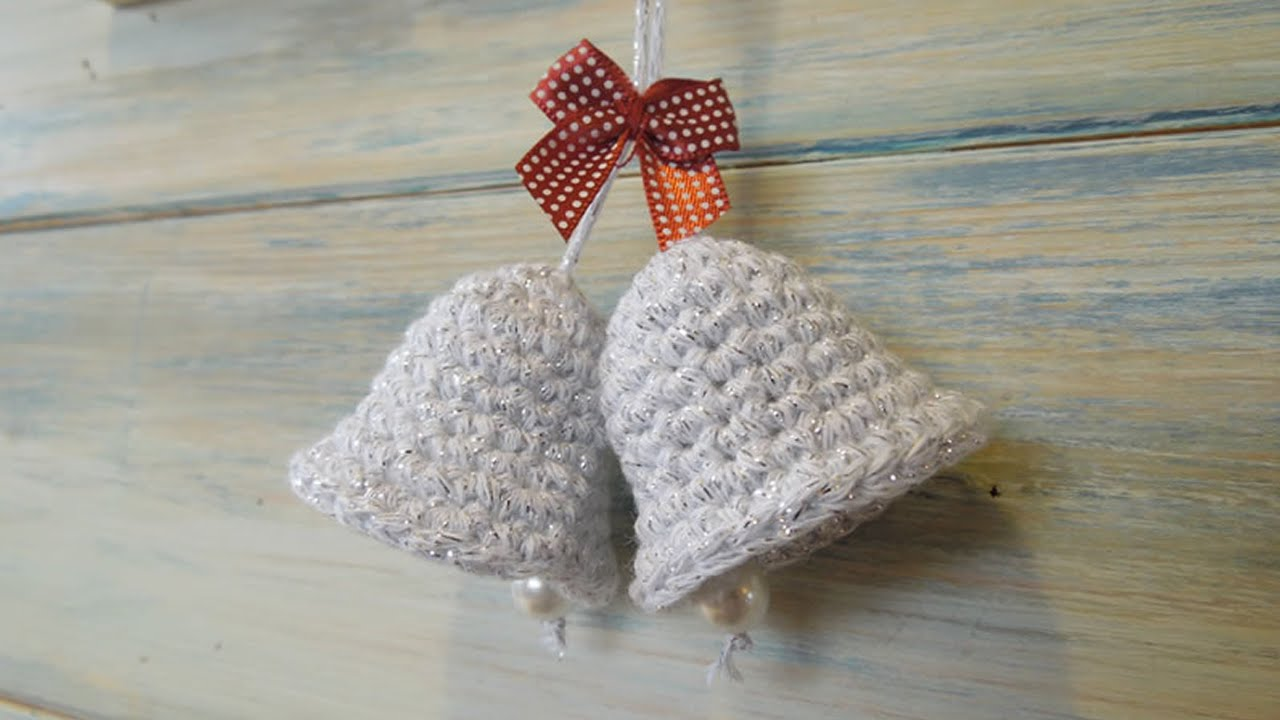 Knitting Pattern Christmas Bells : (crochet) How To - Crochet a Christmas Bell Decoration - YouTube
