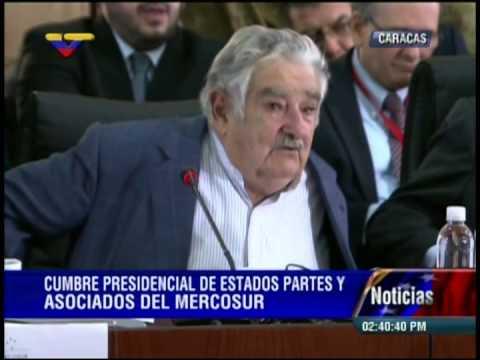 José Pepe Mujica este 29 de julio en la Cumbre de Mercosur en Caracas
