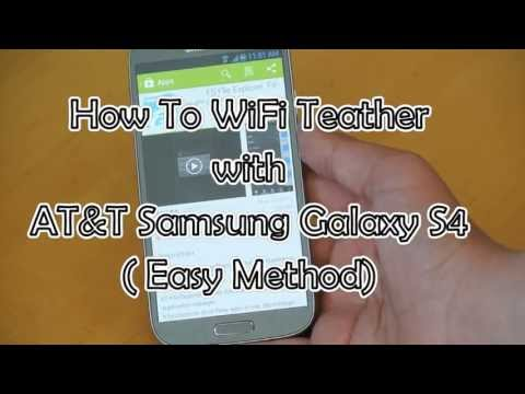 How To WIFI Tether (No Root) with ATT Samsung Galaxy S4