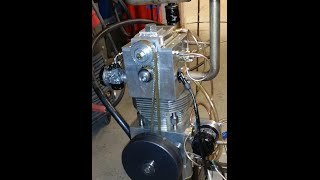 100% homemade 4-stroke engine  -Testing-