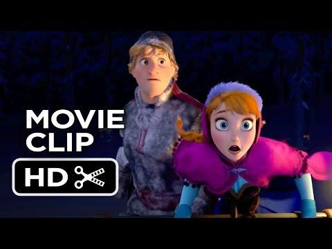Frozen Movie CLIP - Wolf Chase (2013) - Kristen Bell Disney Princess Movie HD
