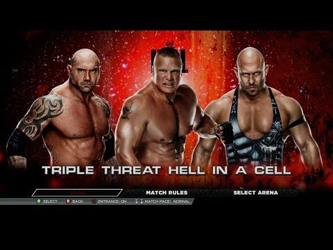 Wwe 2k15 - Brock Lesnar Vs Batista Vs Ryback (hell In A Cell) 1080p Hd video