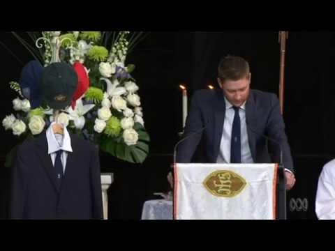 Michael Clarke's eulogy for Phillip Hughes