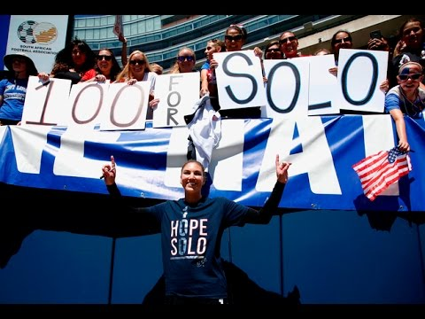 Hope Solo 100th Shutout USWNT - Interview & Celebration
