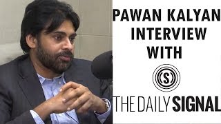 Pawan Kalyan Interview with The Daily Signal Website | Pawan Kalyan US Tour