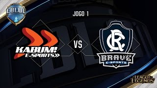 KaBuM x Remo Brave (Jogo 1 - Semana 6 - Dia 2) - CBLoL 2017
