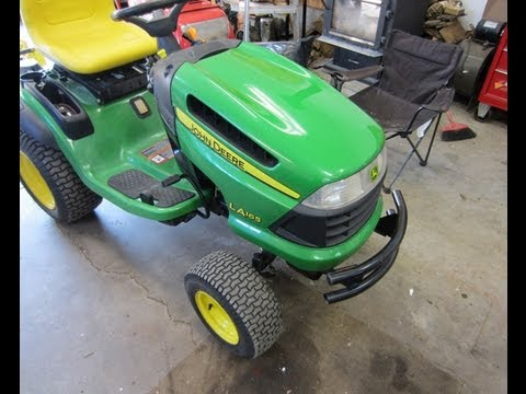 Welding Repair on John Deere LA165 Lawn Tractor Deck